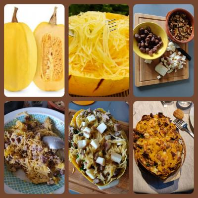 courge spaghetti en images